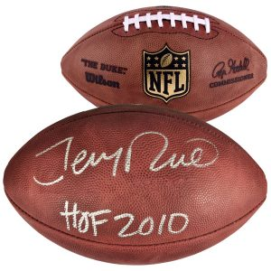 "Autographed San Francisco 49ers Jerry Rice Pro Football with ""HOF 2010"" Inscription"
