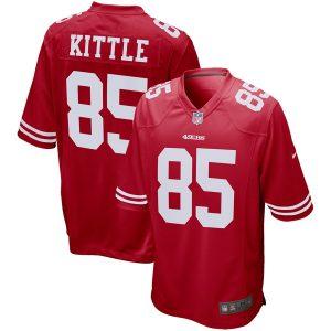 Men's San Francisco 49ers George Kittle Nike Scarlet Game Jersey