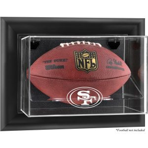 San Francisco 49ers Fanatics Authentic Black Framed Wall-Mountable Football Display Case
