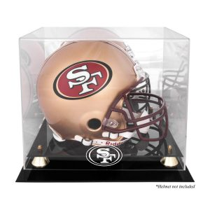 San Francisco 49ers Fanatics Authentic Golden Classic Helmet Display Case with Mirrored Back
