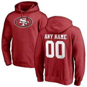 San Francisco 49ers Any Name & Number Logo Personalized Pullover Hoodie