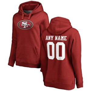 San Francisco 49ers Women's Any Name & Number Logo Personalized Pullover Hoodie