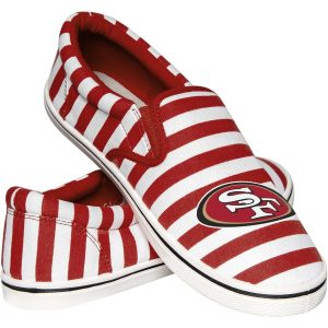 San Francisco 49ers Women's Striped Canvas Slip-On Shoes