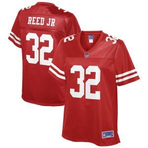 DJ Reed Jr San Francisco 49ers NFL Pro Line Women's Team Player Jersey – Scarlet