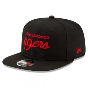 Men's San Francisco 49ers New Era Black Griswold Original Fit 9FIFTY Snapback Hat