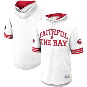 San Francisco 49ers Faithful Unbeaten Mesh Short Sleeve Pullover Hoodie